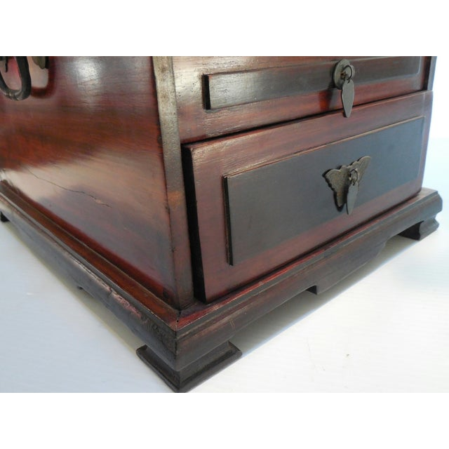 Chinese Rosewood Dressing Box With Bone Inlay - Image 9 of 10