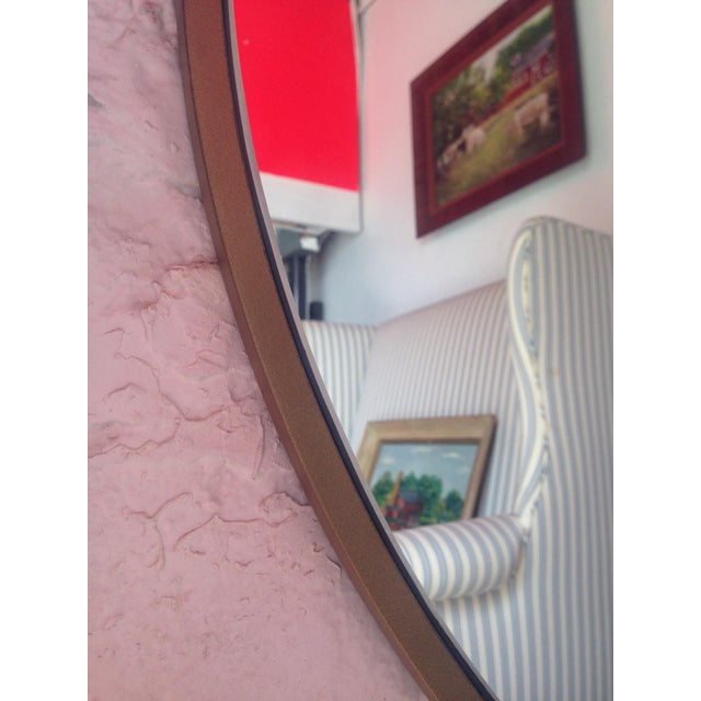 Image of Round Gold Framed Mirror