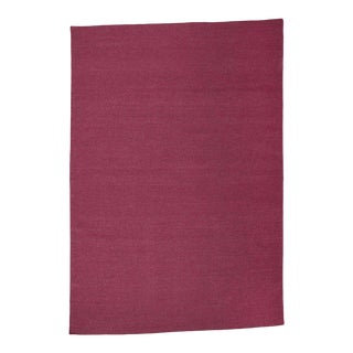 Aelfie Flatwoven Dhhurie Solid Raspberry Rug - 8′ × 10′