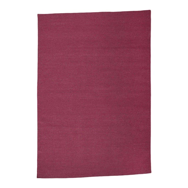 Aelfie Flatwoven Dhhurie Solid Raspberry Rug - 8′ × 10′ - Image 1 of 3