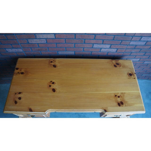 Vintage Pine Writing Desk - Image 4 of 9