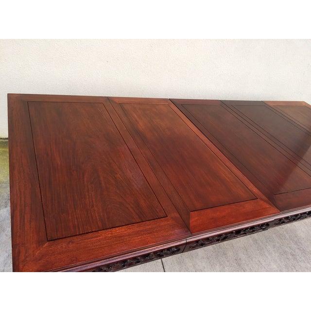 Image of Mid Century Asian Influenced Mahogany Dining Table