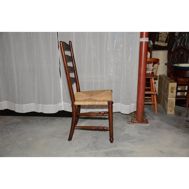 English Ladder Back Dining Chairs - Set of 6 - Image 10 of 10