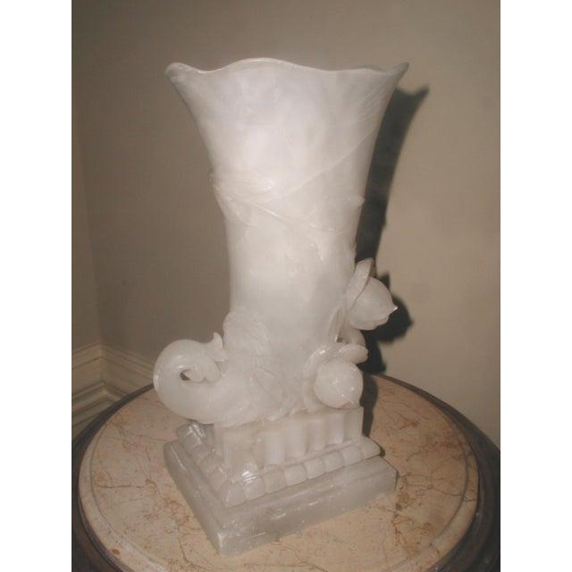 Image of Alabaster Cornucopia Vase C.1900