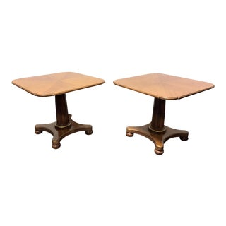 Henredon Mid Century Era Neoclassical Style Low Cocktail Tables - a Pair
