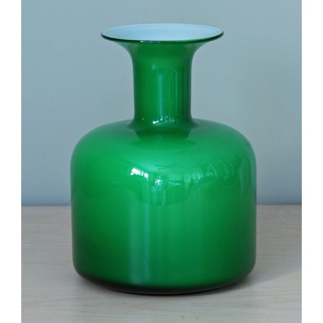 Green Holmegaard Glass Vase - Image 2 of 3