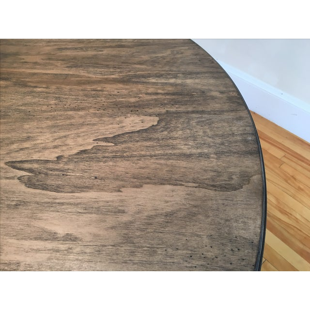 Magnussen Walton Iron & Wood Pedestal Table - Image 4 of 7