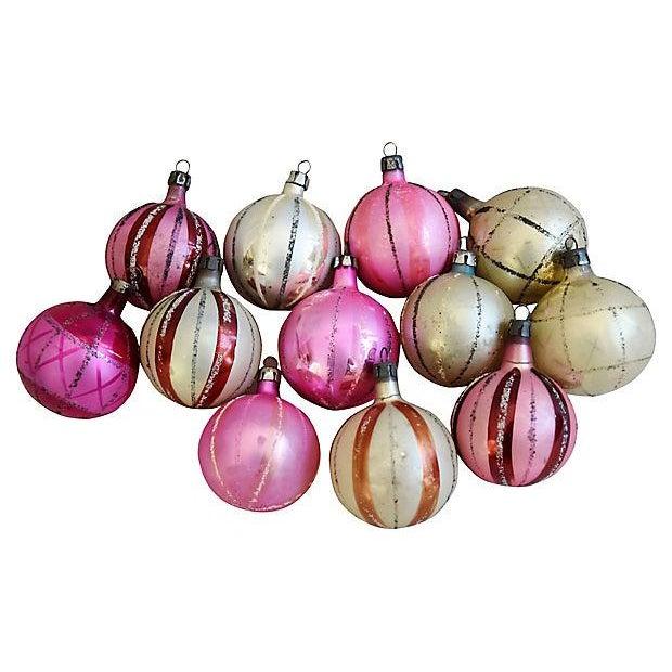 Vintage Fancy European Christmas Ornaments w/Box - Set of 12 - Image 5 of 8