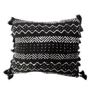 African Textile Mud Cloth Bogolan Lumbar Pillow