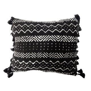 African Textile Mud Cloth Bogolan Lumbar Pillow