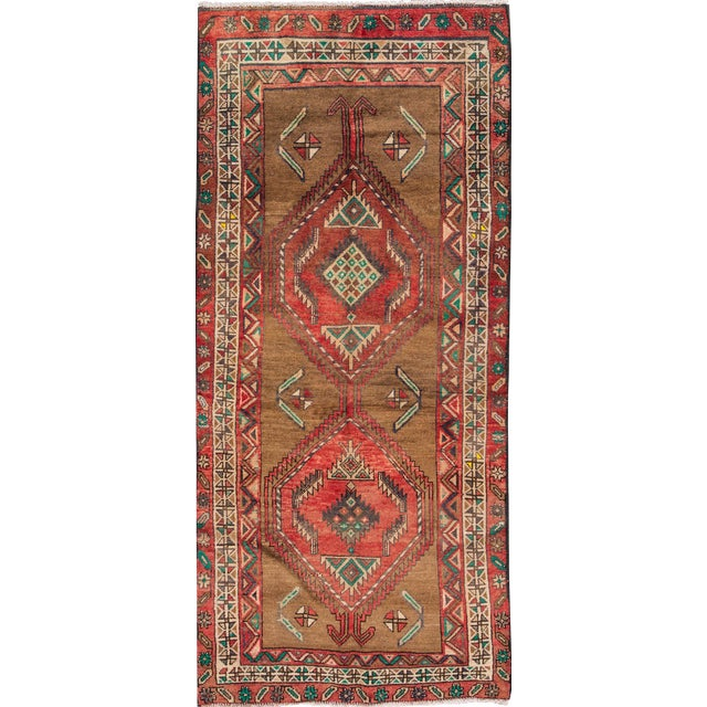 "Apadana Vintage Hand Knotted Persian Rug - 3'5"" X 7'2"" - Image 1 of 7"