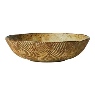 Large Bowl with Sung Glaze by Axel Salto for Royal Copenhagen