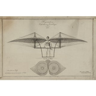 19th-C. Flying Machine Print