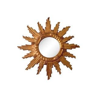 Italian Gilt Wood Sunburst Mirror