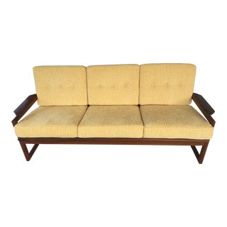 Selig Bornholm Light Yellow Danish Sofa by Sven Ellekaer C. 1960s