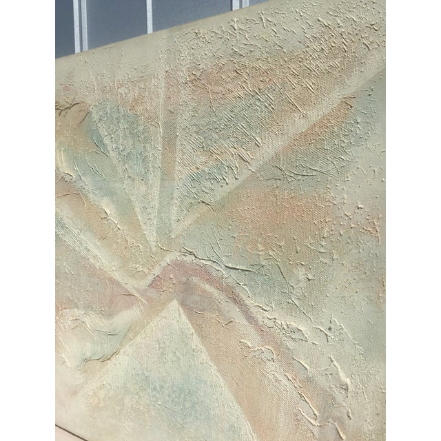 Extra Large- Lee Reynolds Sunrise Mid Century Modern Pastel Abstract Canvas Painting Signed - Image 11 of 11