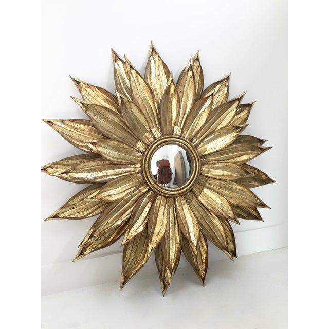 Golden Flower Petals Mirror - Image 2 of 3