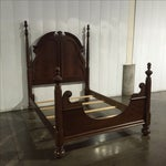 Image of Queen Anne Solid Walnut Queen/Full Bed Frame