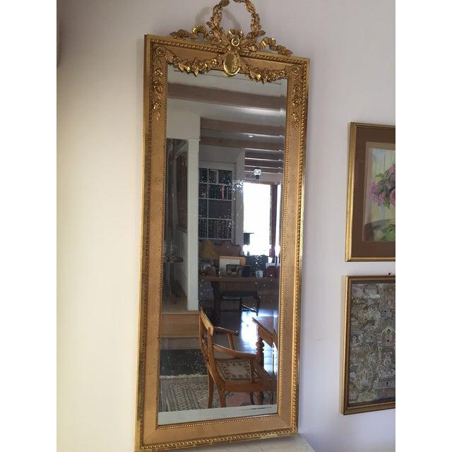1915 Antique Guilt Wall Mirror & Console Table Set - Image 7 of 11