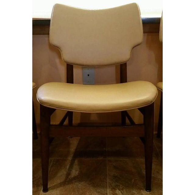 Thonet Mid-Century Yellow Vinyl Chairs - Set of 3 - Image 3 of 11