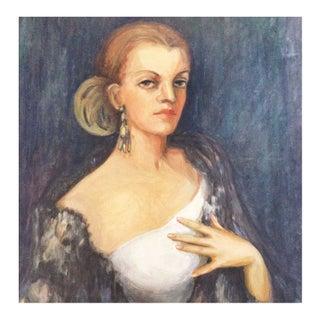 H. Patterson Art Deco Portrait Of A Lady