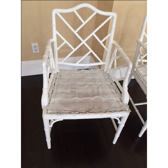 Chippendale Faux Bamboo Chairs - A Pair - Image 5 of 6
