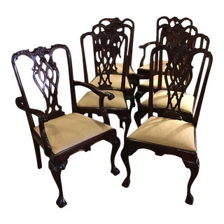 Chippendale Style Dining Chairs - Set of 8