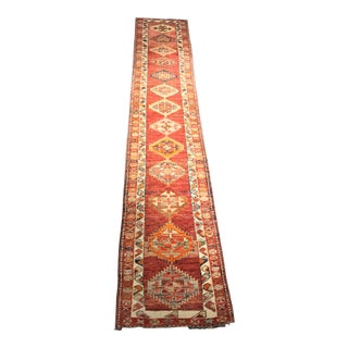 "Vintage Turkish Oushak Runner - 2'9"" x 14'10"""