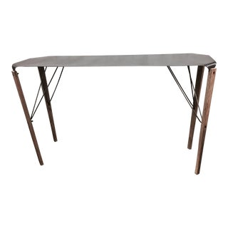Industrial Hand-Crafted Steel & Fir Wood Console Table