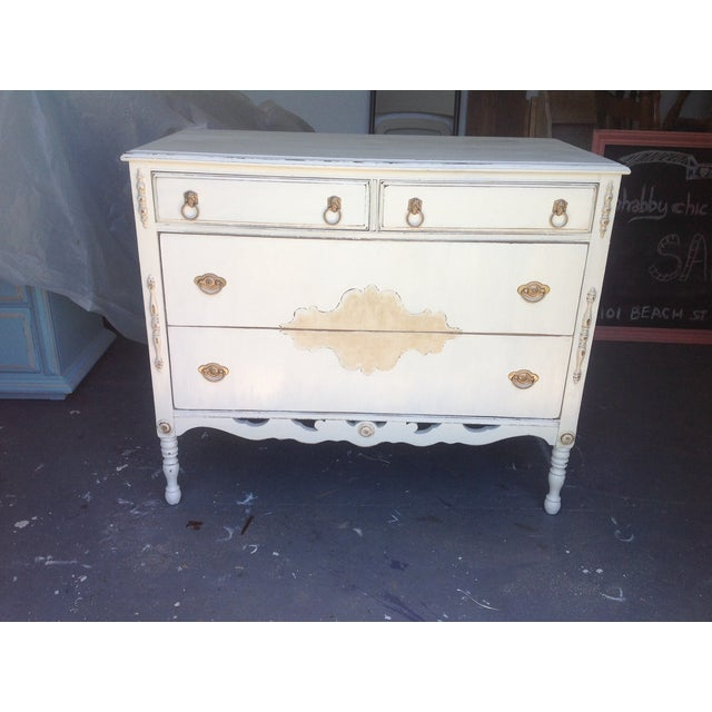 Image of Vintage Shabby Chic Dresser with Mirror
