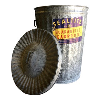 Vintage Sealtite Trash Can