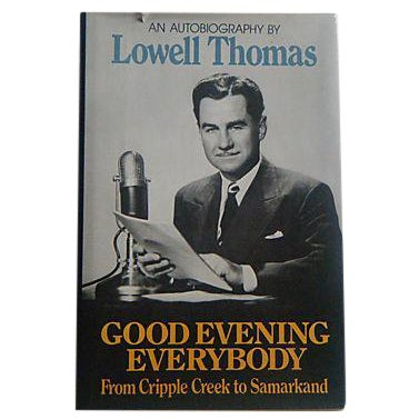 Image of Lowell Thomas Autobiography 1970s Radio Book