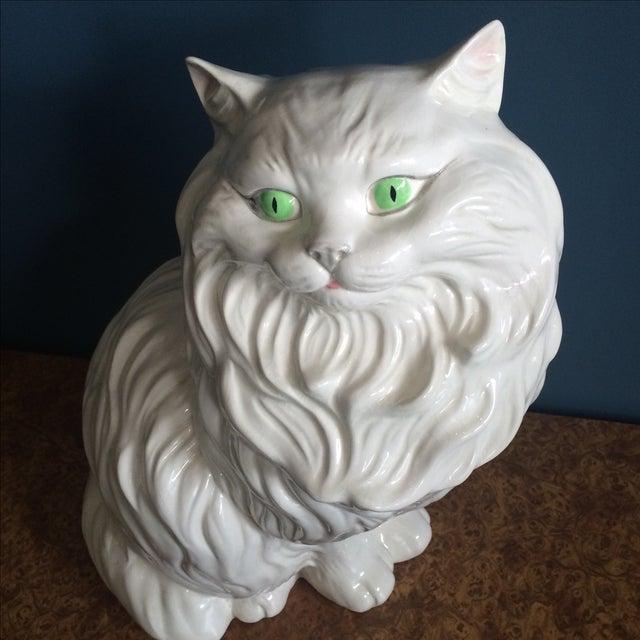 White Ceramic Cat - Image 4 of 8