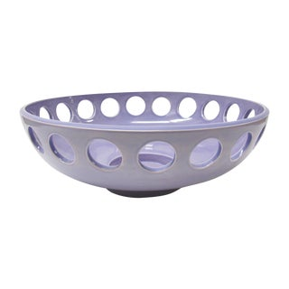 "Lawrence McRae Ceramic ""Low Bowl"" in Lavender"