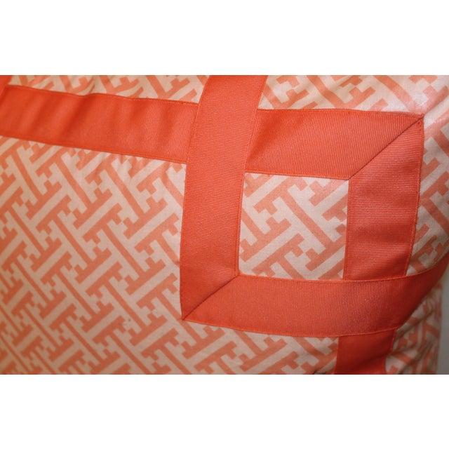 Orange Greek Key Pillow - Image 4 of 6