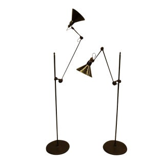 Pair of Rare and Important GRAS Floor Lamps, Model # 215