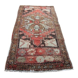 "Vintage Turkish Oushak Tribal Rug- 1'10"" x 3'6"""