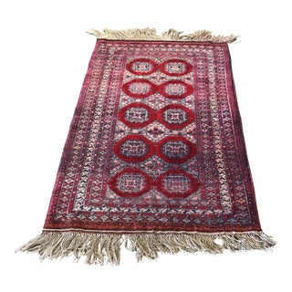 """Old Afghan Jaldar Silk Rug 2'7"""" X 4'"""