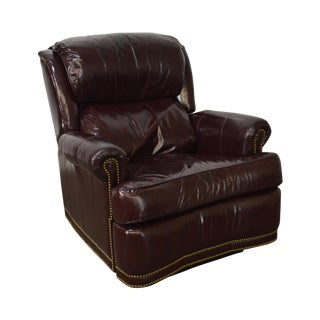 High Quality Oxblood Leather Recliner Lounge Chair