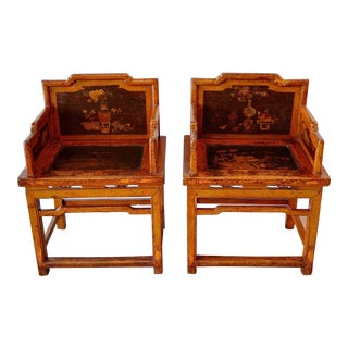 Antique Chinese Meiguiyi Rose Chairs