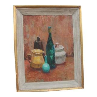 Alexander Vintage Still Life Bottles Painting