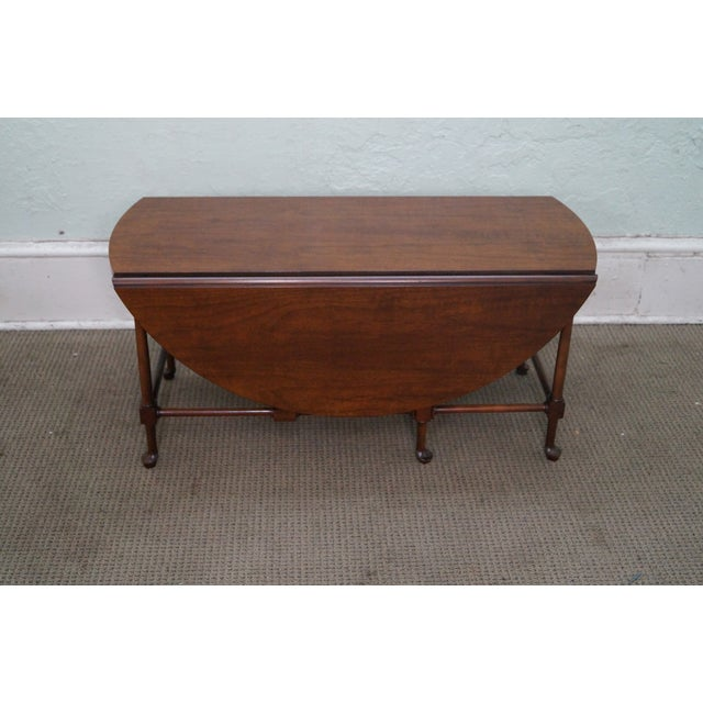 Baker Walnut Drop Leaf Coffee Table Chairish