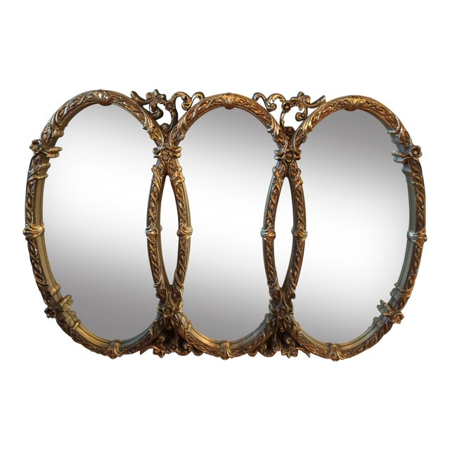 Gold Gilt Triple Mirror - Image 1 of 6