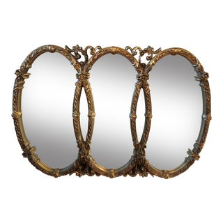 Gold Gilt Triple Mirror