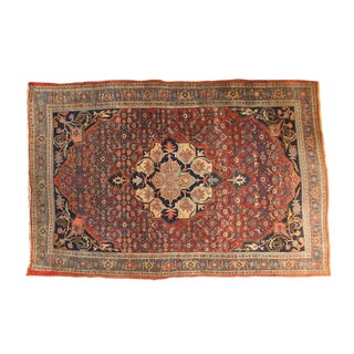 "Antique Fine Halvaie Bijar Carpet- 4'10"" x 7'1"""