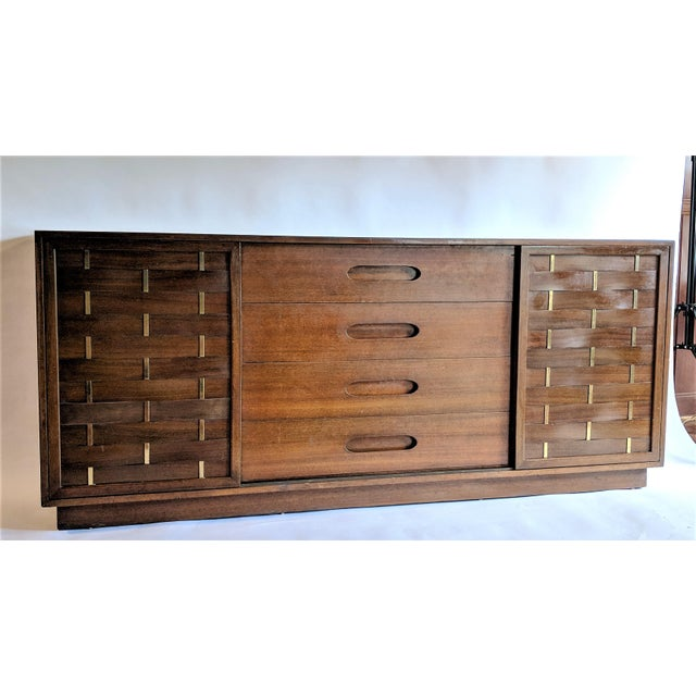 Harvey Probber Woven Front Credenza Sideboard - Image 3 of 10