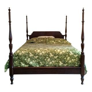 Traditonal Henkel Harris Mahogany 4 Poster Bed Queen Size