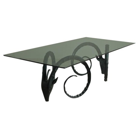 A Large Rams Head Based Dining Table 1970s - Image 1 of 6