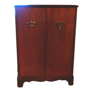 Mid-Century Colonial Style Record Cabinet