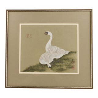 Chinese Geese Painting on Silk